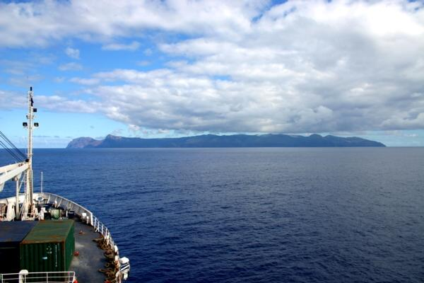 Approaching the island, onboard the RMS St. Helena  (Click to see the full-sized image, opens in a new window or tab)