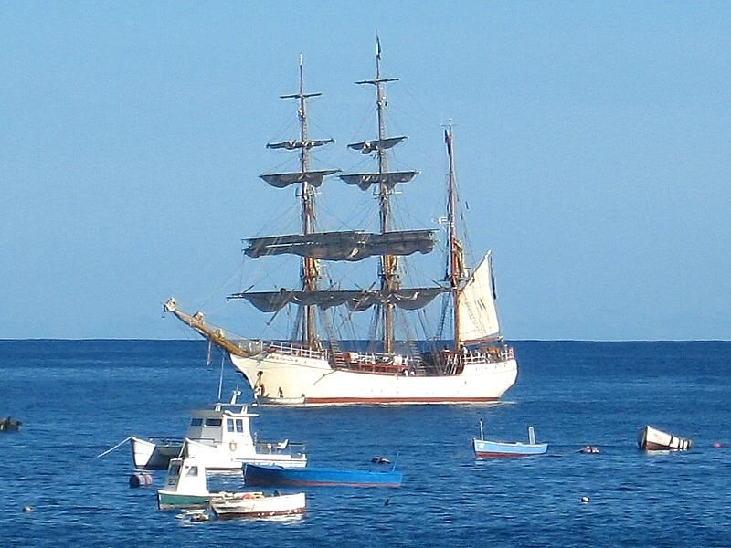 Visiting sailing ship the Bark Europa  (Click to see the full-sized image, opens in a new window or tab)